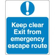 Mandatory Safety Sign - Keep Clear Exit 087